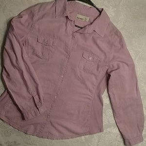 Old Navy lilac button front blouse, Size Large